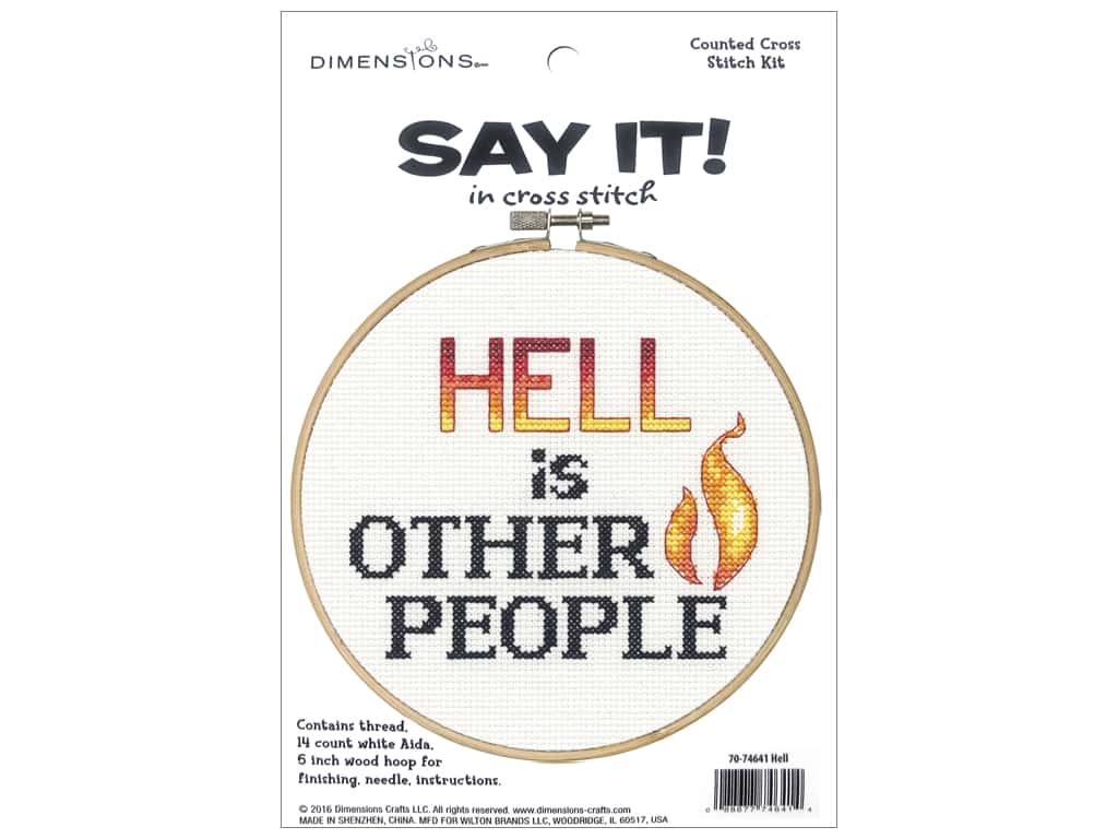 Dimensions Counted Cross Stitch Kit 6 in. Say It! Other People