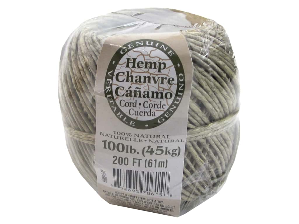 Darice Hemp Cord 100 lb. Natural 200 ft.
