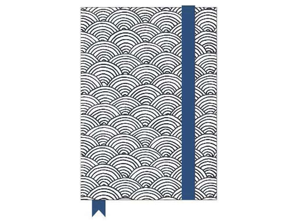 American Crafts Adult Coloring Notebook with Elastic Band Hall Pass Scallop