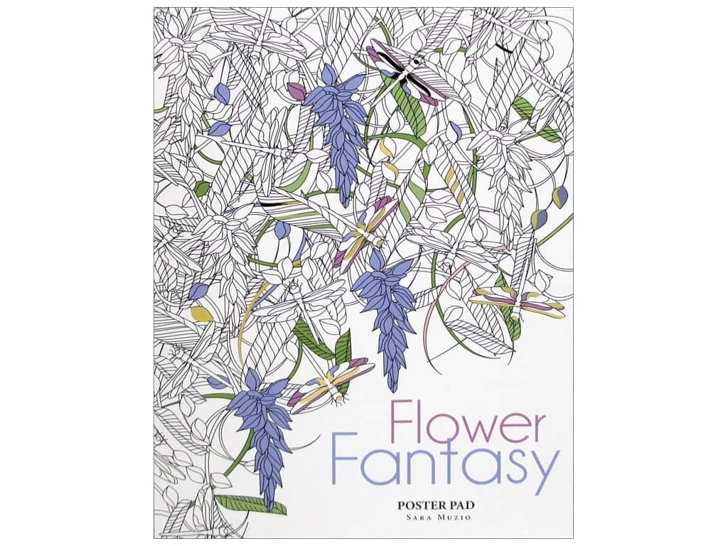 Lark Flower Fantasy Coloring Poster Book