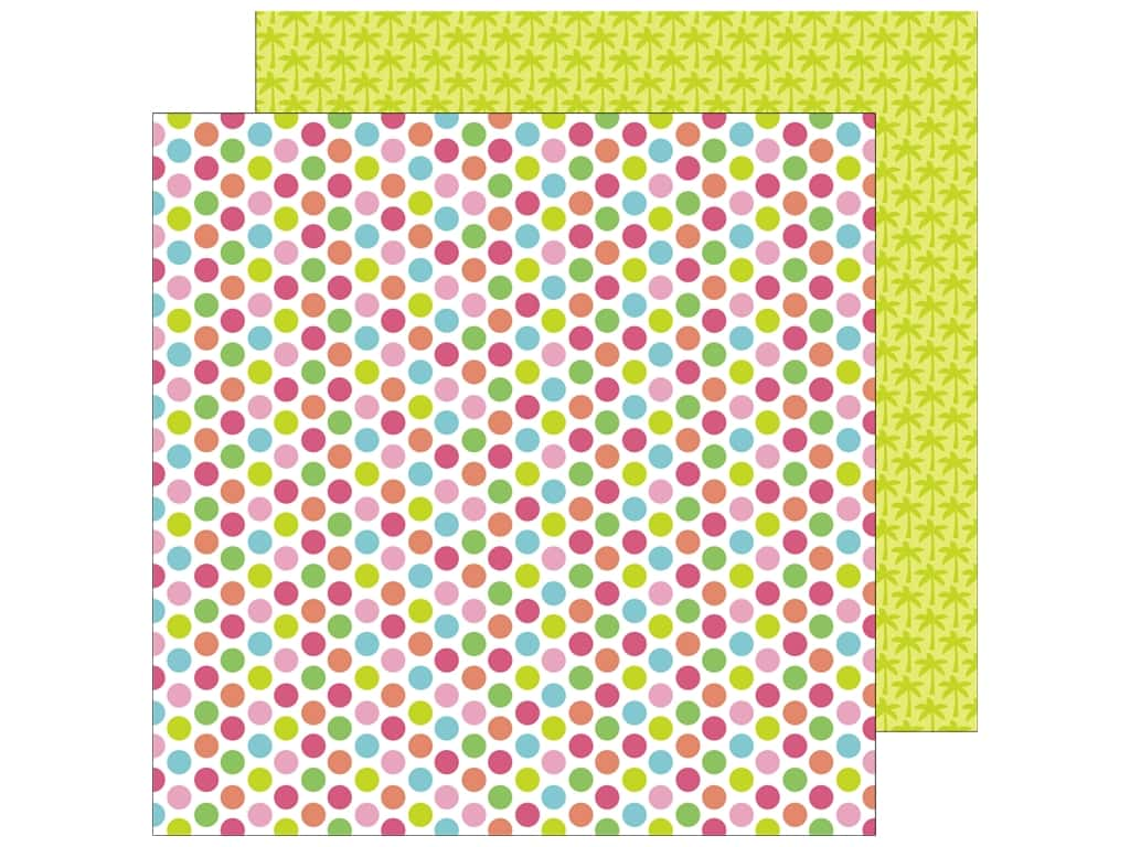 Doodlebug 12 x 12 in. Paper Fun In The Sun Polka Dot Party (25 sheets)