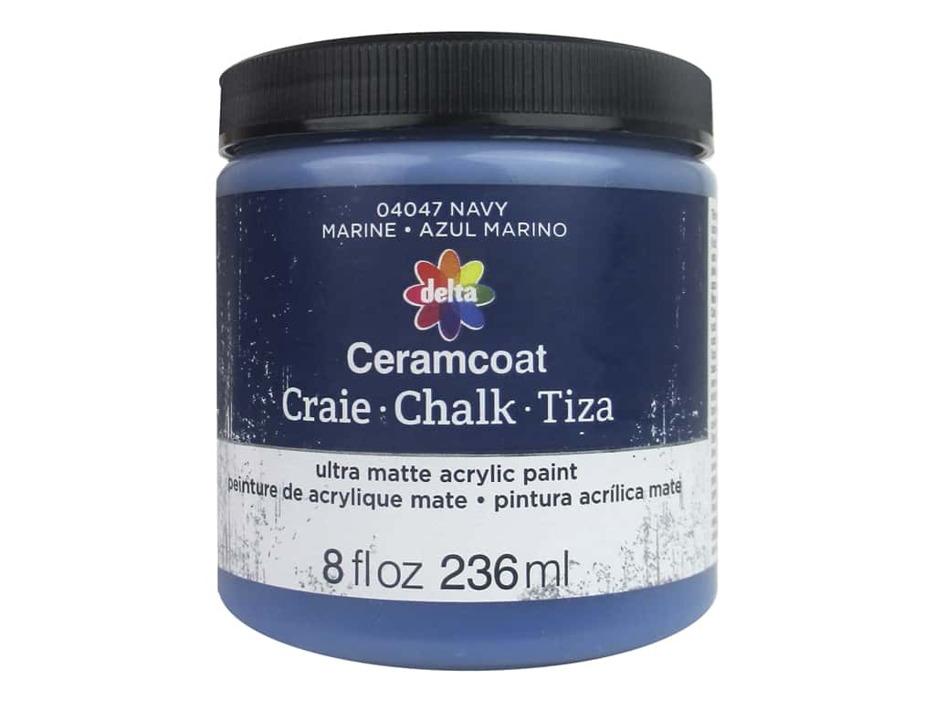 Delta Ceramcoat Chalk Paint 8 oz. Navy