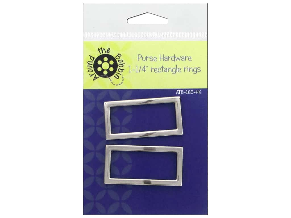 Around The Bobbin Purse Hardware 1 1/4 in. Rectangle Rings