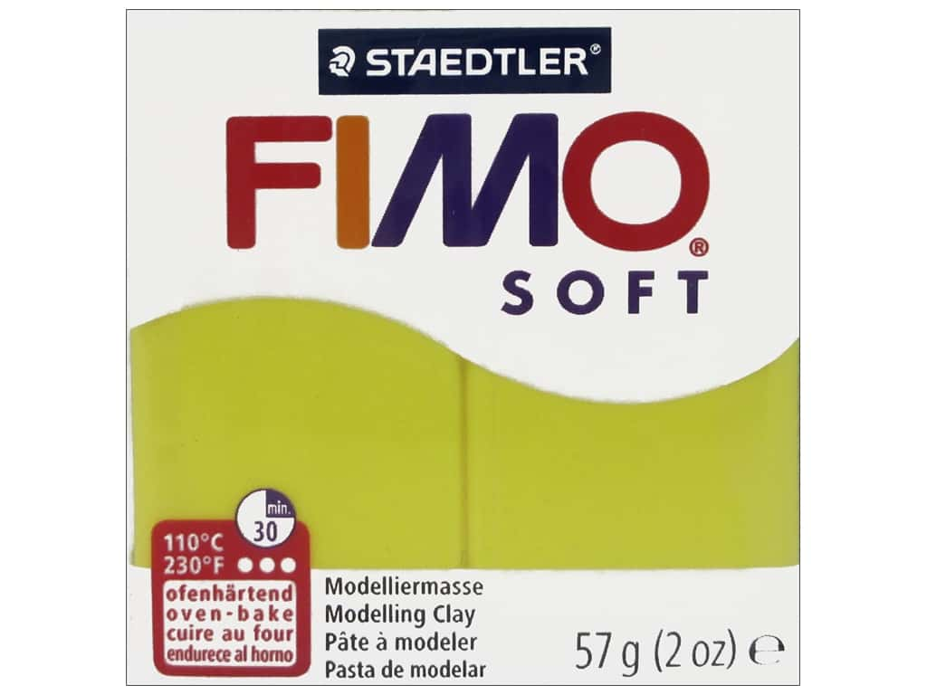 Fimo Soft Clay 2 oz. Lemon