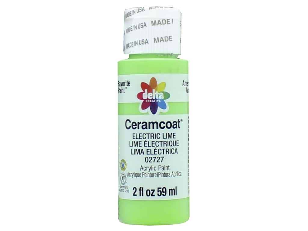 Delta Ceramcoat Acrylic Paint - #2727 Electric Lime 2 oz.