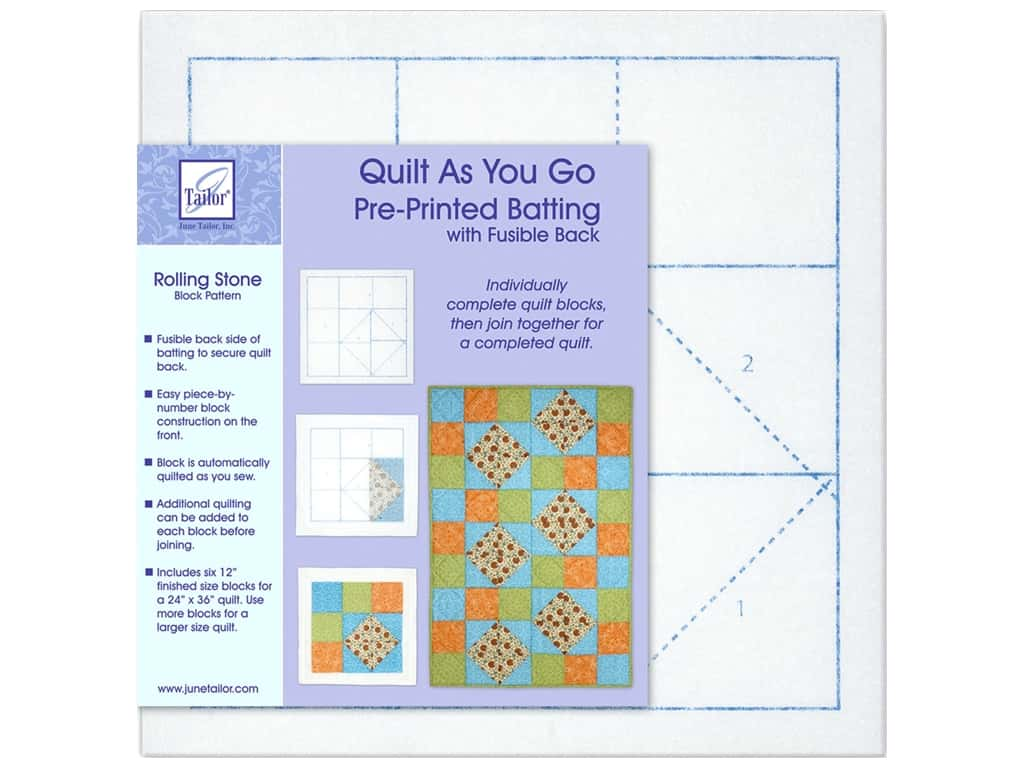 June Tailor Kit Quilt As You Go Polyester Rolling Stone