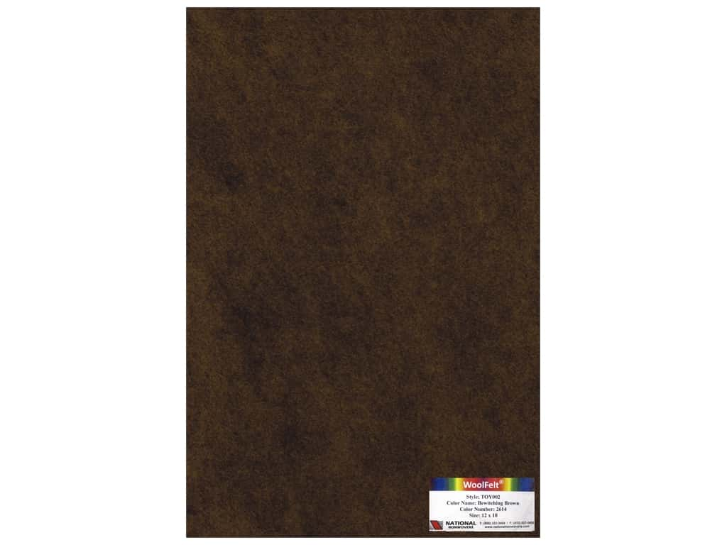 National Nonwovens 35% Wool Felt 12 x 18 in. Bewitching Brown (10 sheets)