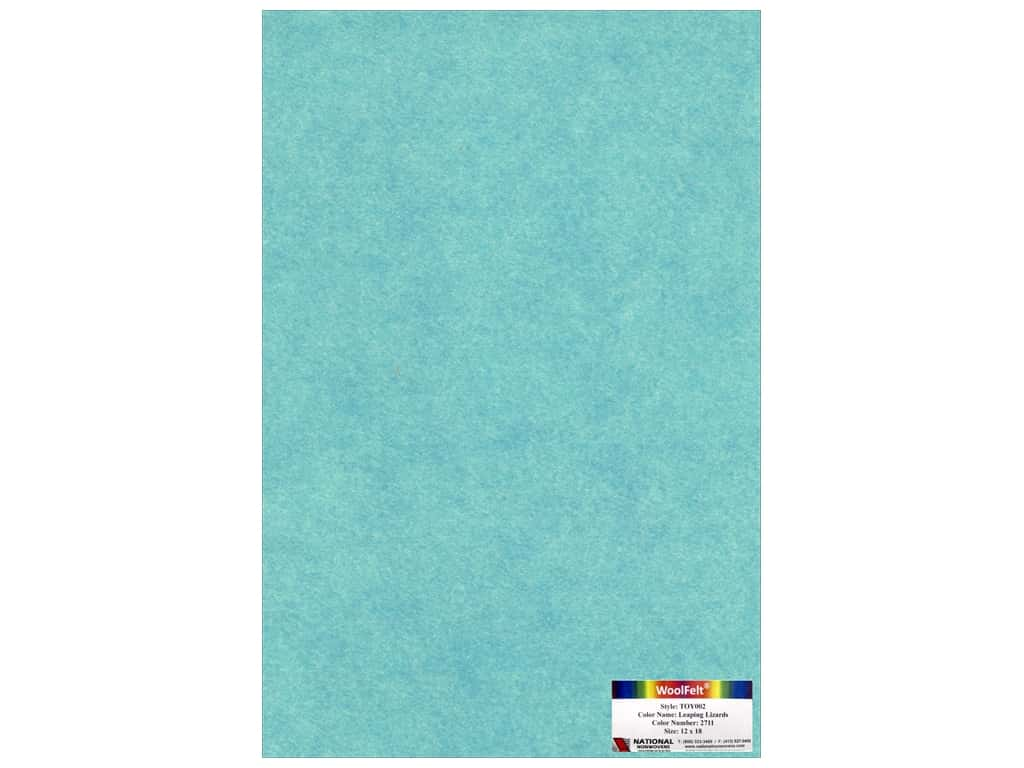 National Nonwovens 35% Wool Felt 12 x 18 in. Leaping Lizards (10 sheets)