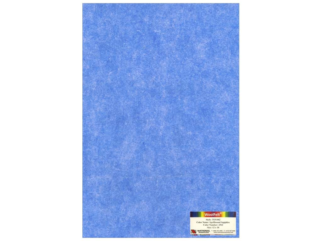 National Nonwovens 35% Wool Felt 12 x 18 in. Spellbound Sapphire (10 sheets)