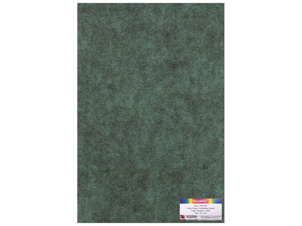 National Nonwovens 35% Wool Felt 12 x 18 in. Forbidden Forest (10 sheets)