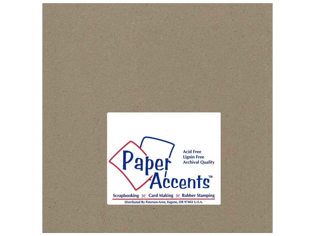 Paper Accents Chipboard 8 x 8 in. 42 pt. XL Heavy Natural 25 pc.