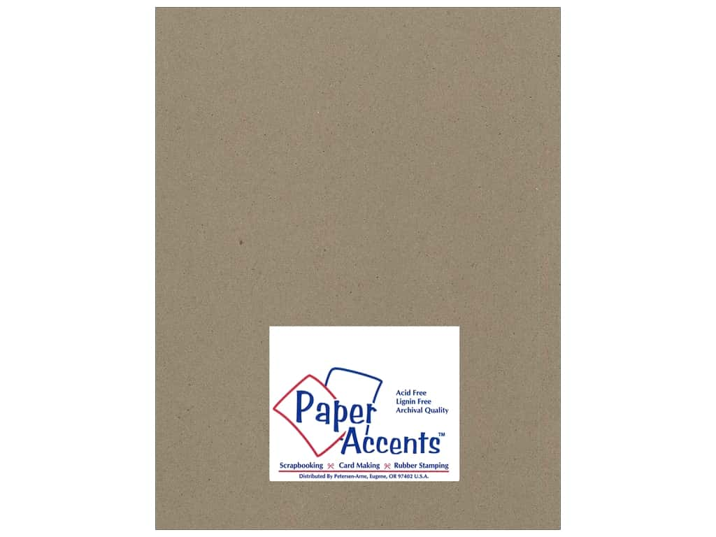 Paper Accents Chipboard 8 1/2 x 11 in. 42 pt. XL Heavy Natural (25 sheets)
