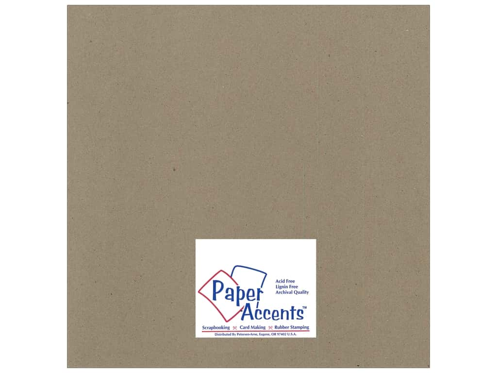 Paper Accents Chipboard 12 x 12 in. 42 pt. XL Heavy Natural (25 sheets)