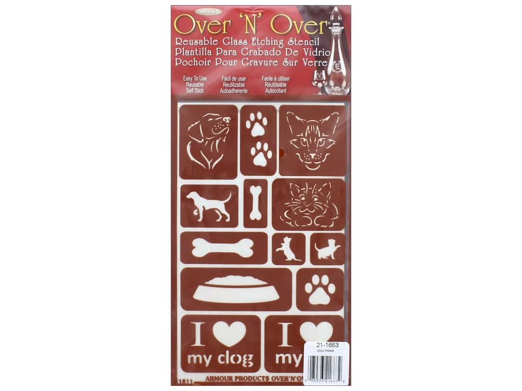 Armour Over 'N' Over Stencil Paws