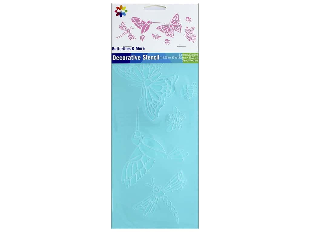 Delta Stencil Magic 5 1/2 x 13 in. Butterflies
