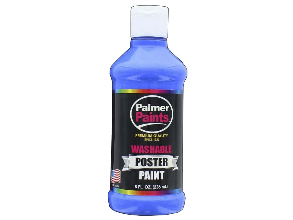 Palmer Washable Poster Paint 8 oz. Ultra Blue