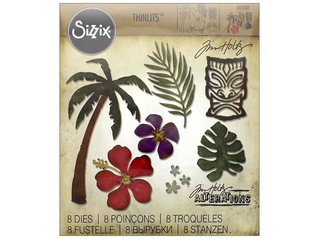Sizzix Thinlits Die Set 8 pc. Tropical