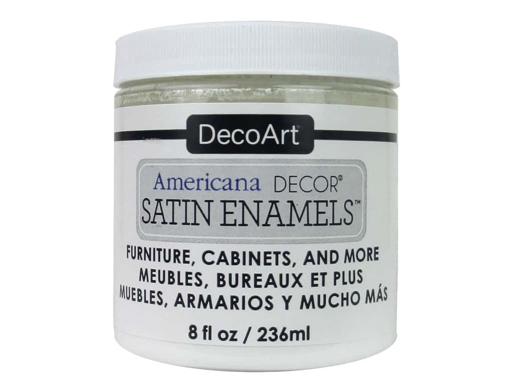 DecoArt Americana Decor Satin Enamel Paint 8 oz. Pure White