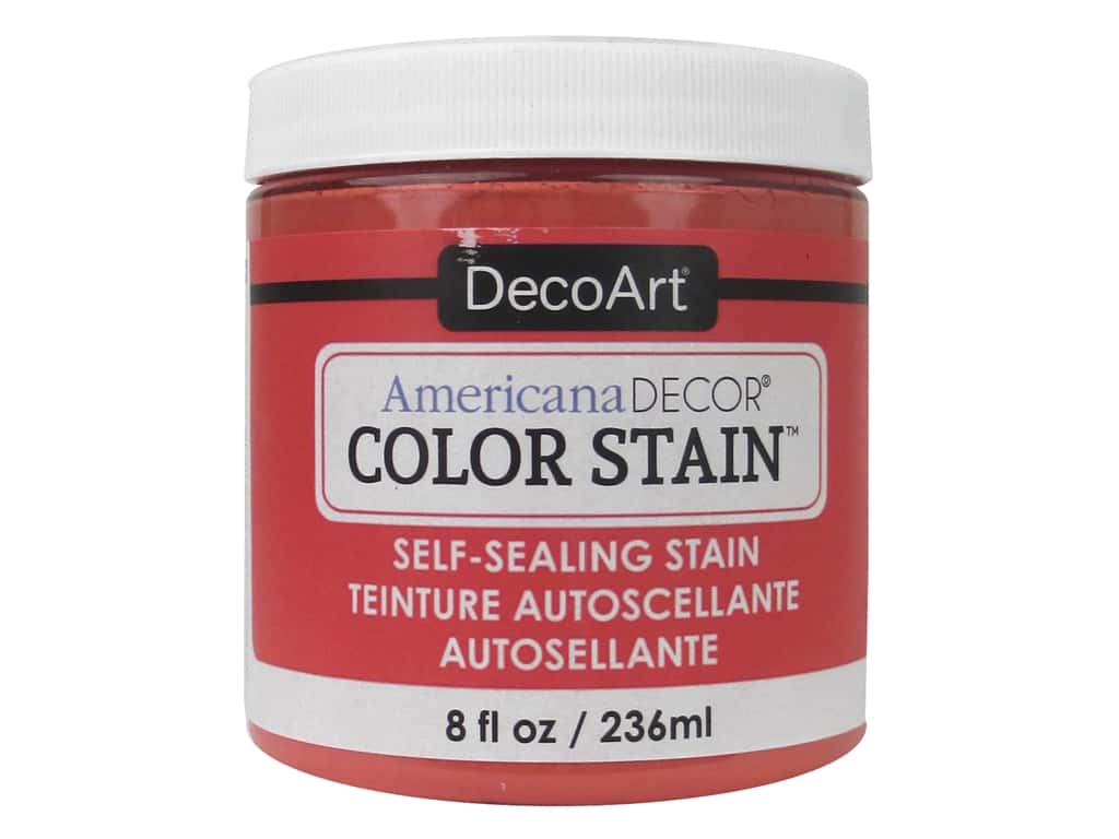 DecoArt Americana Decor Color Stain 8 oz. Coral