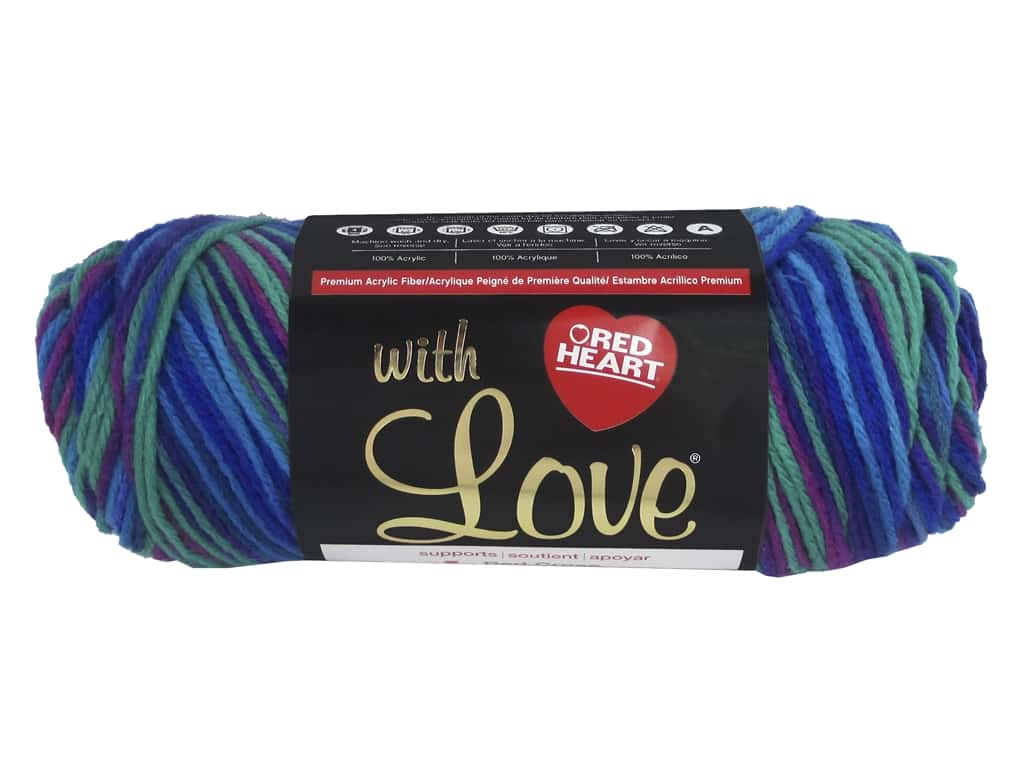Red Heart With Love Yarn 230 yd. #1955 Parade