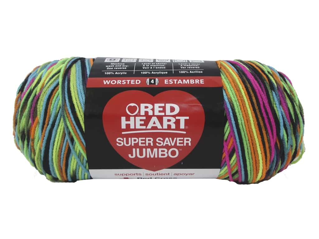 Red Heart Super Saver Jumbo Yarn 482 yd. #3939 Blacklight