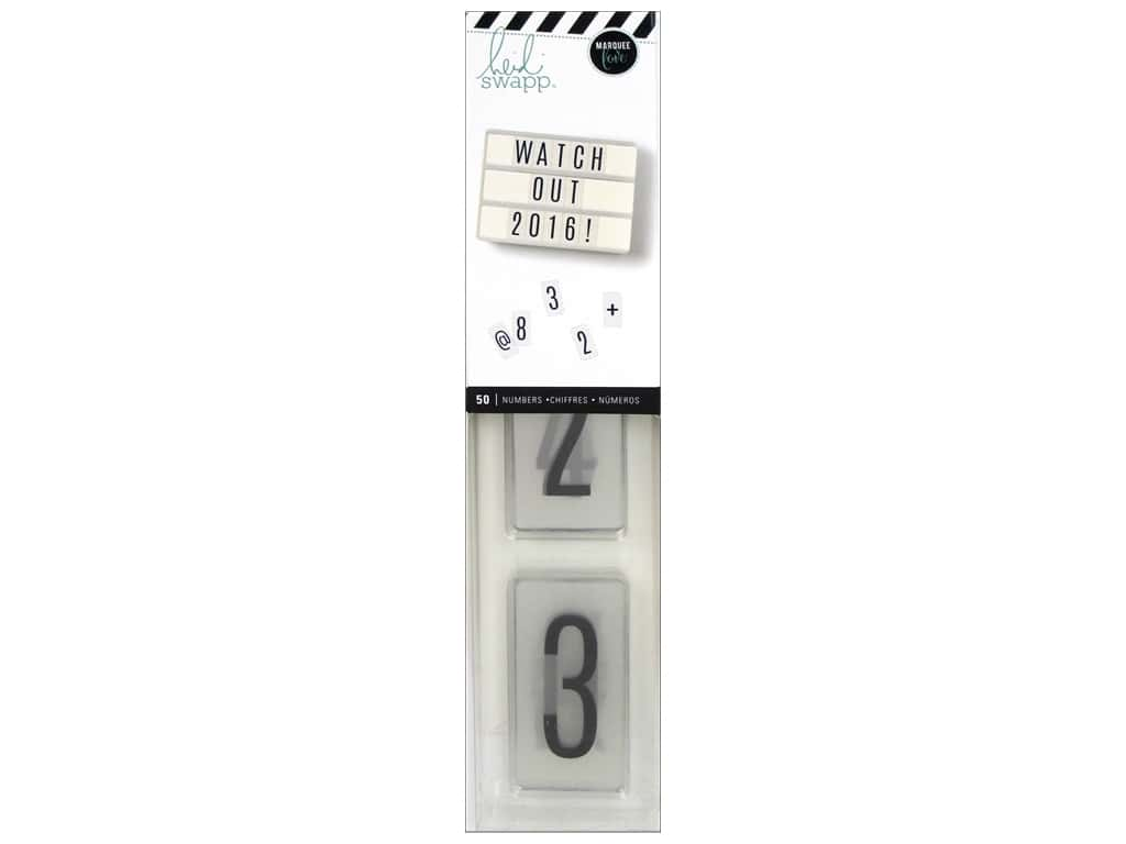 Heidi Swapp LightBox Inserts 50 pc. Numbers Black