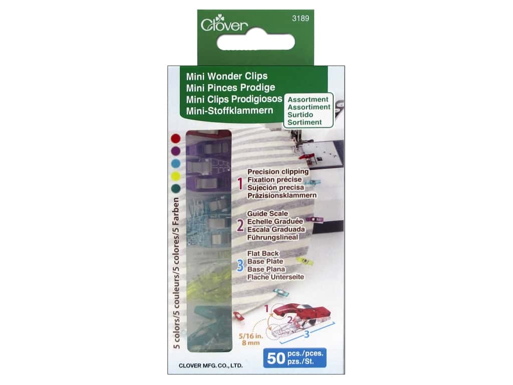 Clover Mini Wonder Clips 50 pc. Assorted