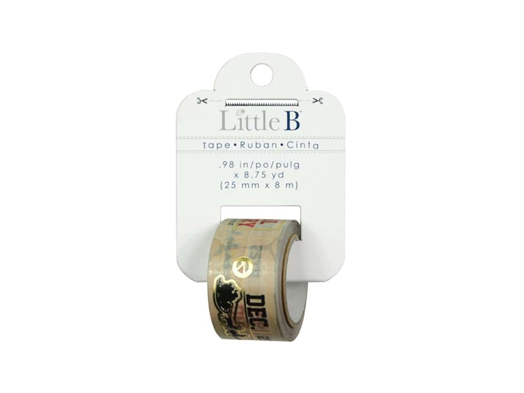 Little B Decorative Paper Tape 1 in. Gold Foil Christmas Tag