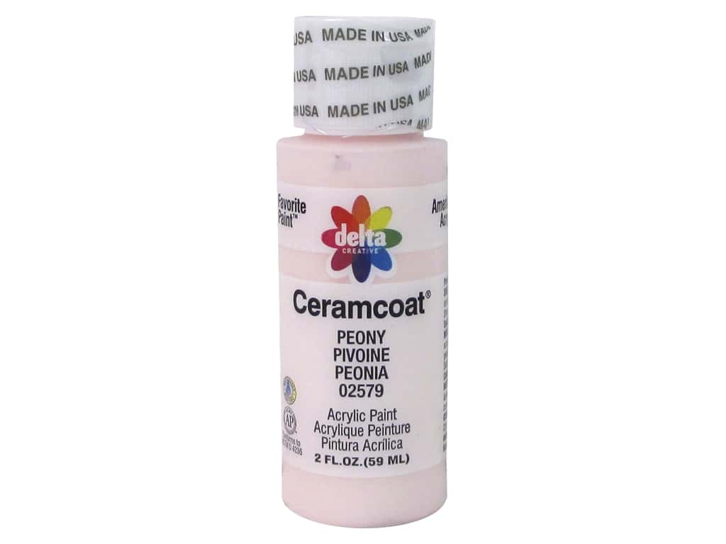 Ceramcoat Acrylic Paint by Delta 2 oz. #2579 Peony
