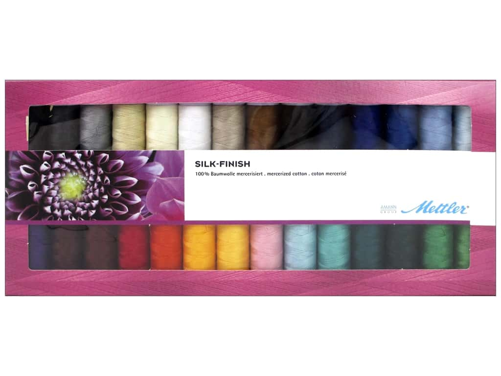 Mettler Silk Finish Cotton Thread Gift Set 28 pc.