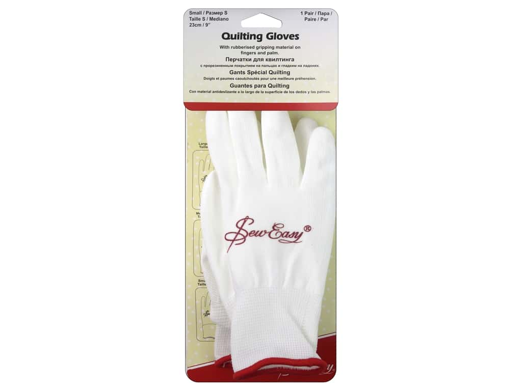 Sew Easy Quilting Gloves with Grip Small