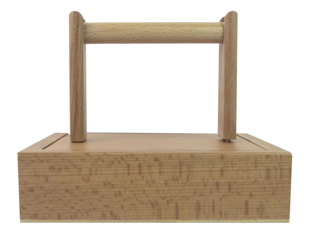 Sierra Pacific Crafts Wood Yarn Winder with Storage Natural