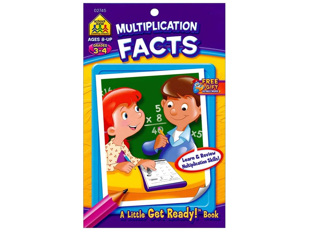 School Zone Little Get Ready! Multiplication Facts Book