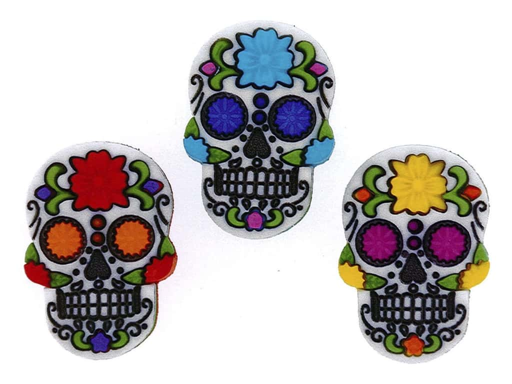 Jesse James Dress It Up Embellishments Sugar Skulls