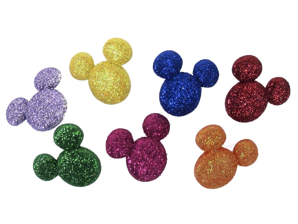 Jesse James Dress It Up Embellishments Disney Glitter Mickey