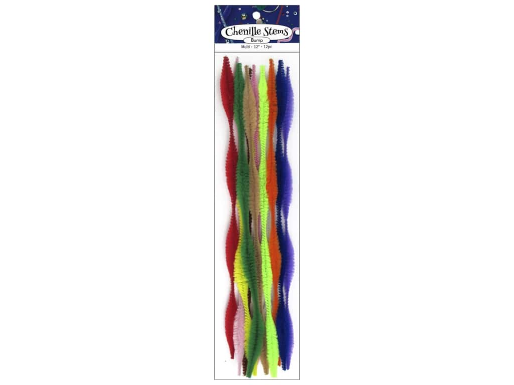 PA Essentials Bump Chenille Stems 15 mm x 12 in. Multi 12 pc.