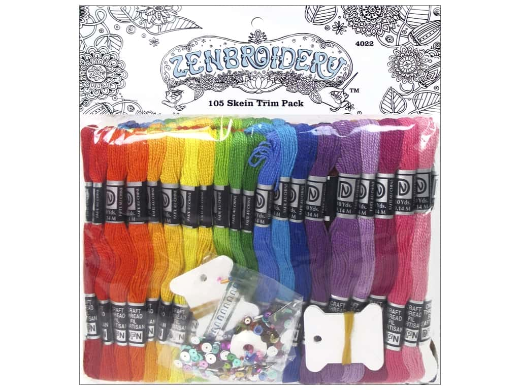 Design Works Zenbroidery Trim Pack Cord 105 Skein