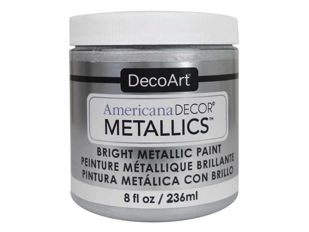 DecoArt Americana Decor Metallics - Sterling Silver 8 oz.