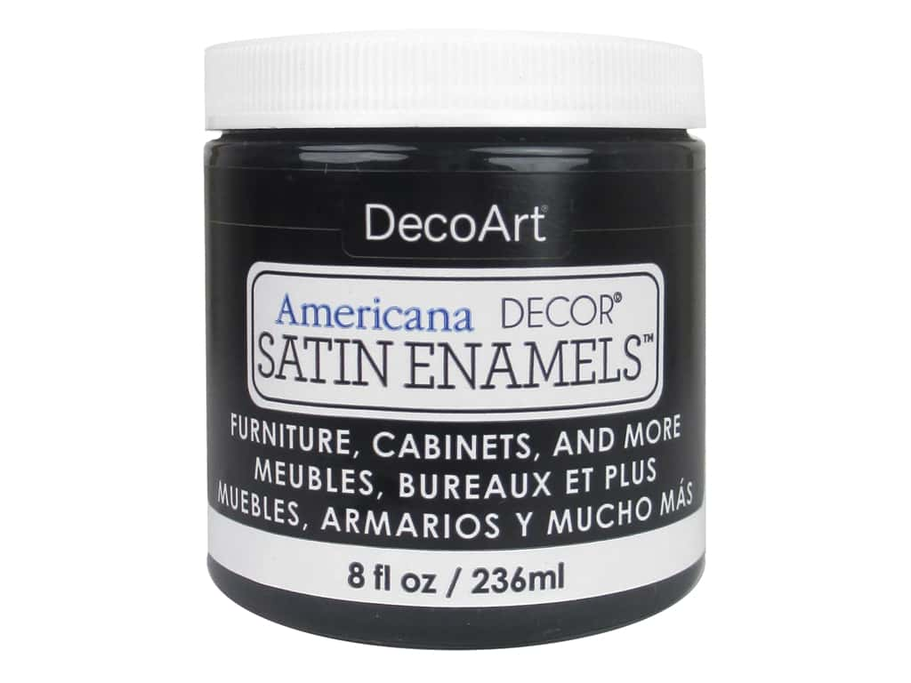 DecoArt Americana Decor Satin Enamel Paint 8 oz. Classic Black