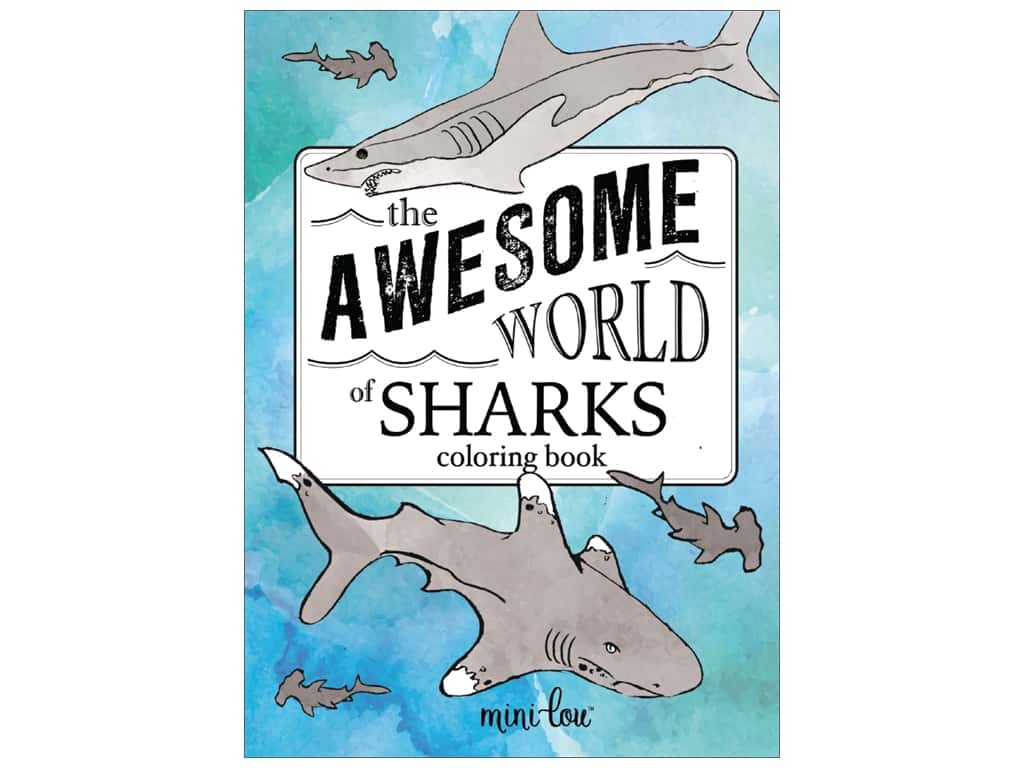 MiniLou The Awesome World Of Sharks Mini Coloring Book