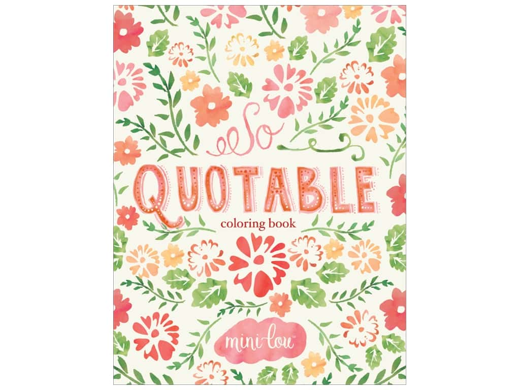 MiniLou Books So Quotable Coloring Book