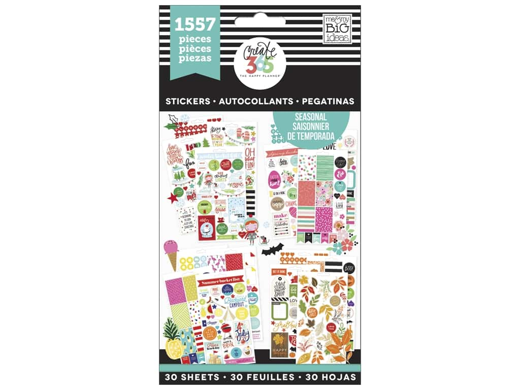 Me&My Big Ideas Happy Planner Sticker Value Pack Brilliant Year