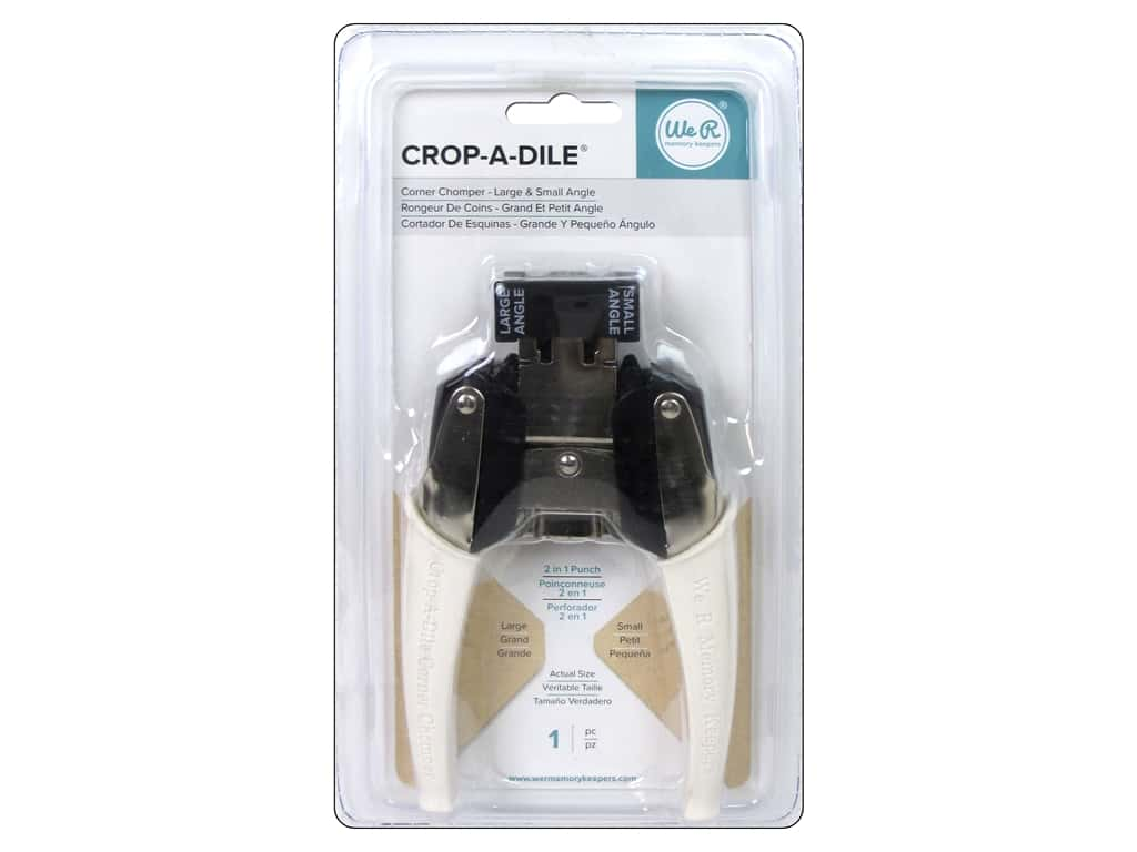 We R Memory Keepers Crop A Dile Corner Chomper Tool - Small Angle & Large Angle