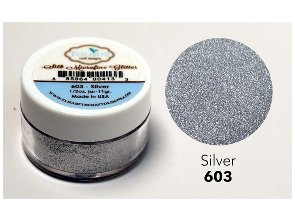 Elizabeth Craft Silk Microfine Glitter 1/2 oz. Silver