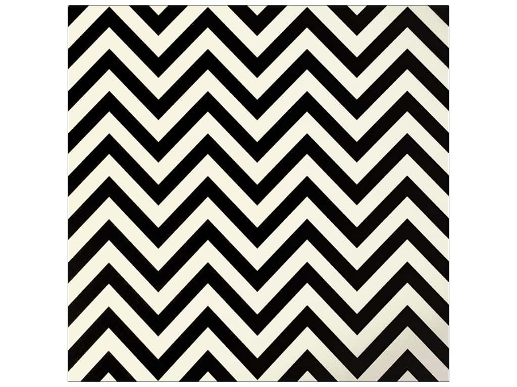 Canvas Corp 12 x 12 in. Paper Black & Ivory Chevron (15 sheets)