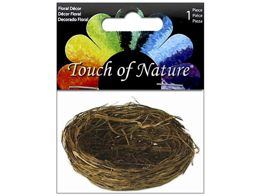 Midwest Design Bird Nest 2 1/4 in. Wild Grass 1 pc.
