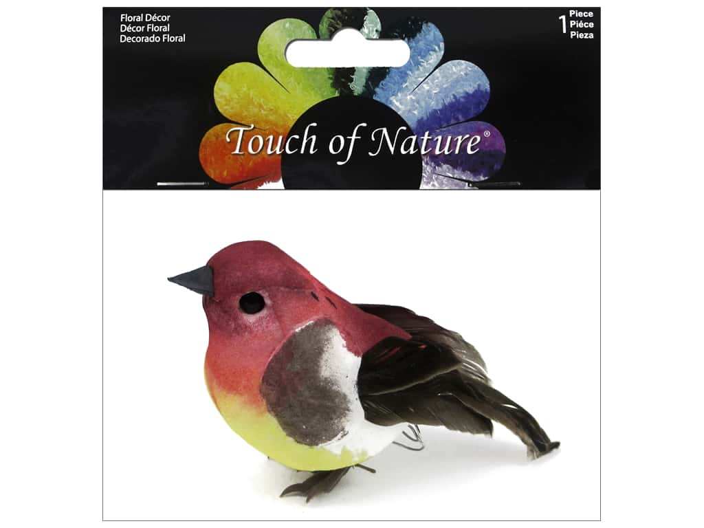 Midwest Design Artificial Birds 3 in. Feather Purple Finch 1 pc.