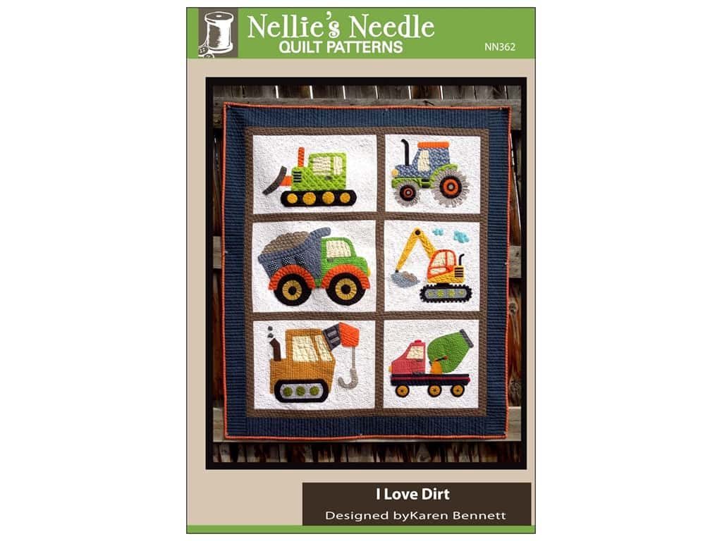 Nellie's Needle I Love Dirt Quilt Pattern