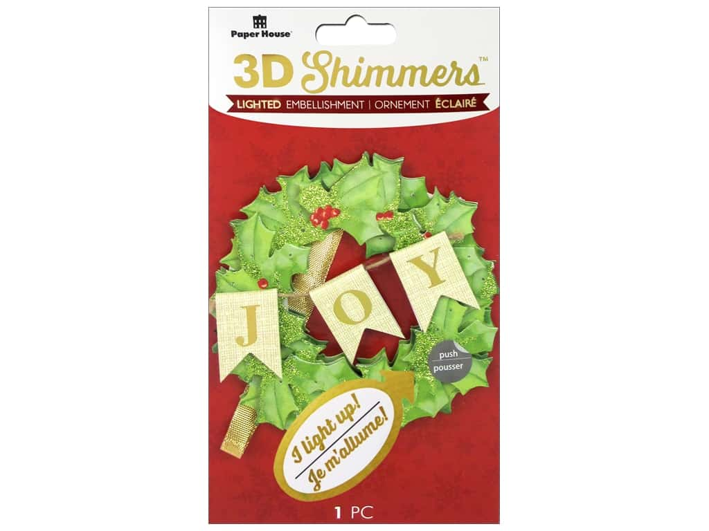 Paper House 3D Shimmers Stickers - Wreath