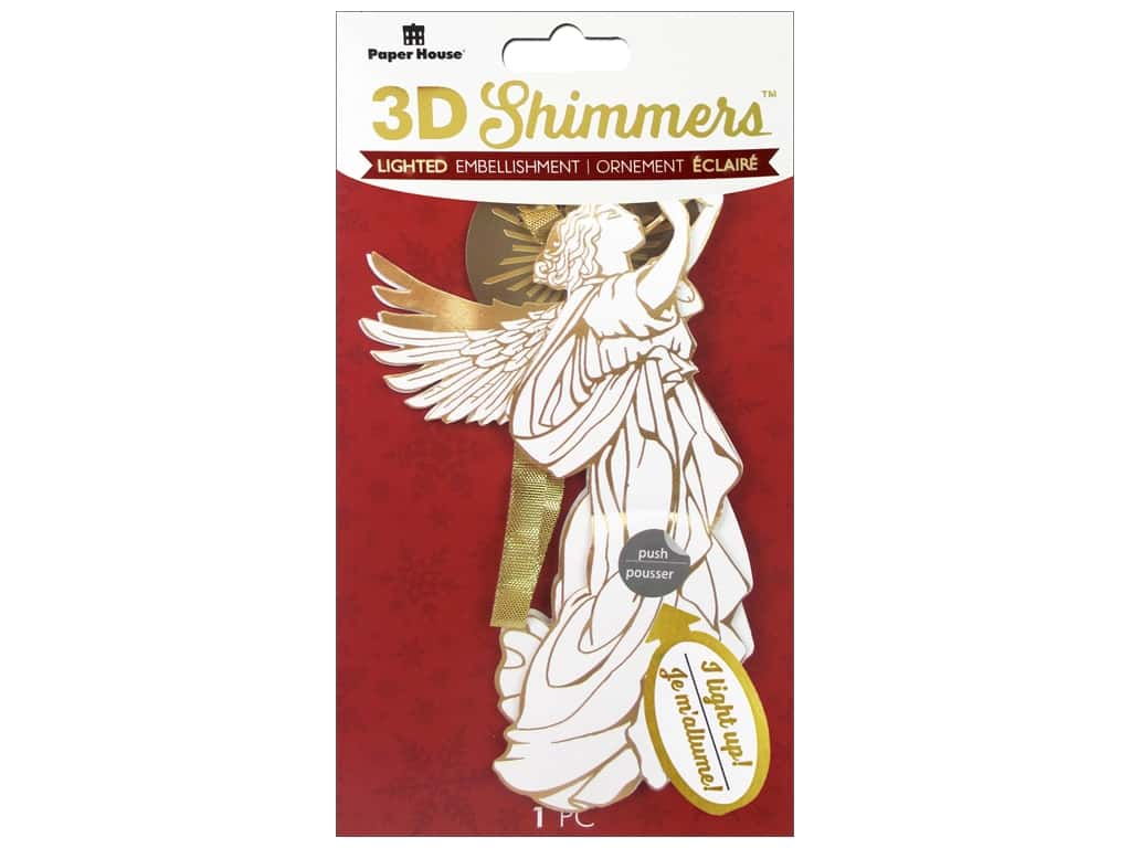 Paper House 3D Shimmers Stickers - Angel